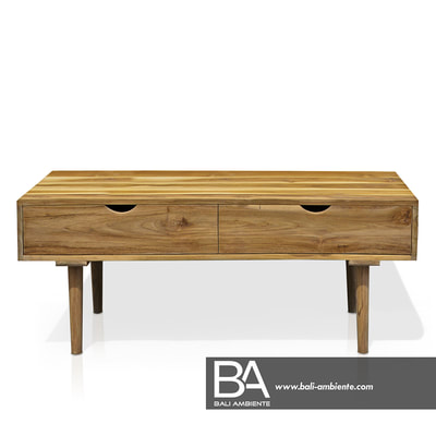 teak low board with drawers